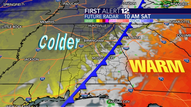 Much cooler air filters in on Saturday.