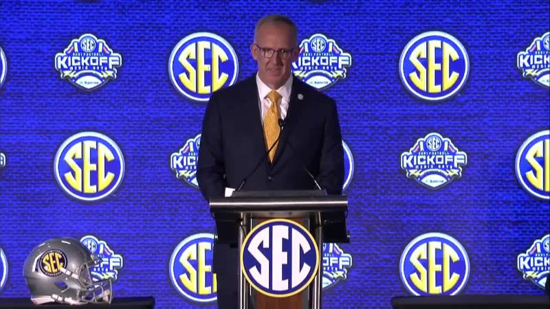 SEC Commissioner Greg Sankey in Hoover for Media Days
