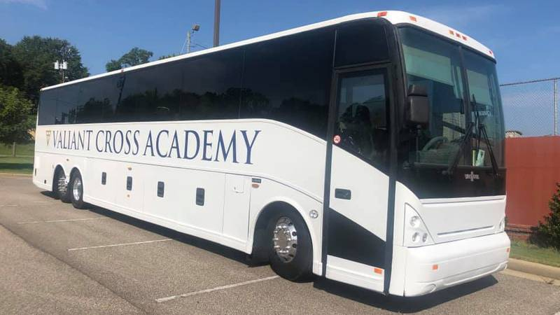 Valiant Cross Academy in Montgomery says it will use its brand new bus to take its students...