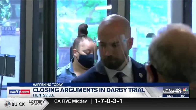 Closing arguments begin in Darby trial