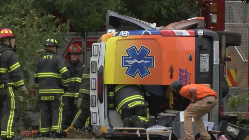 Montgomery police say an infant has died following a two-vehicle crash involving an ambulance...