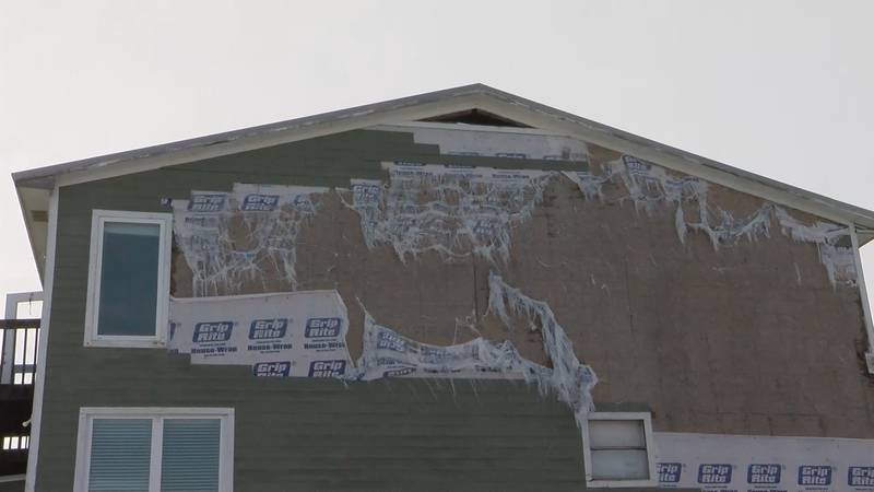 Homes damaged in Hurricane Sally still in need of repair.