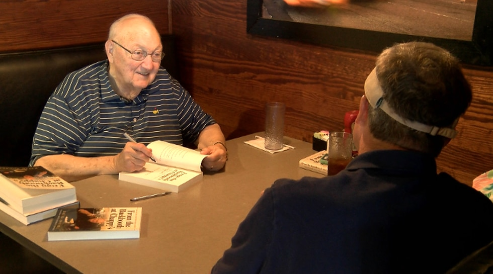 David Housel signed his new book at Chappy's Deli in Montgomery on June 16, 2021.
