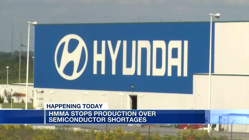 Hyundai temporary shutdown begins