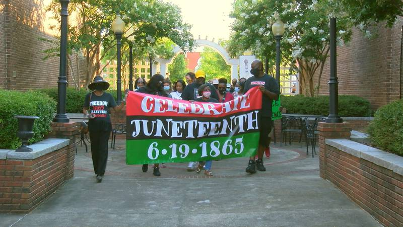 Hundreds of people came together in Opelika Friday to march and remember Juneteenth, a day...