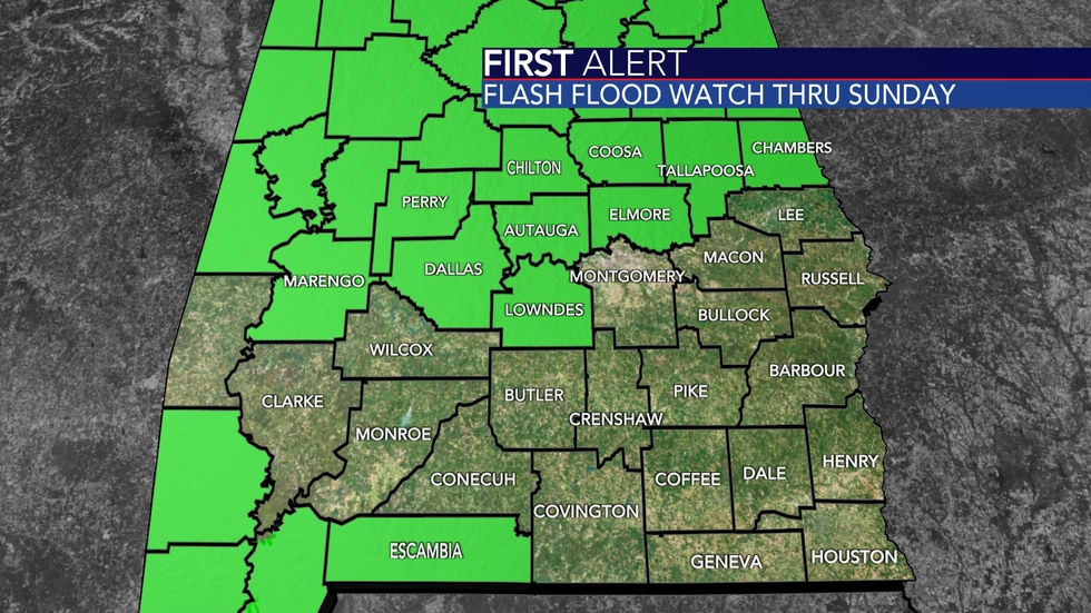A flood risk exists for many counties through the end of the day Sunday. Even counties not...