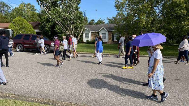 English Village community prayer walk