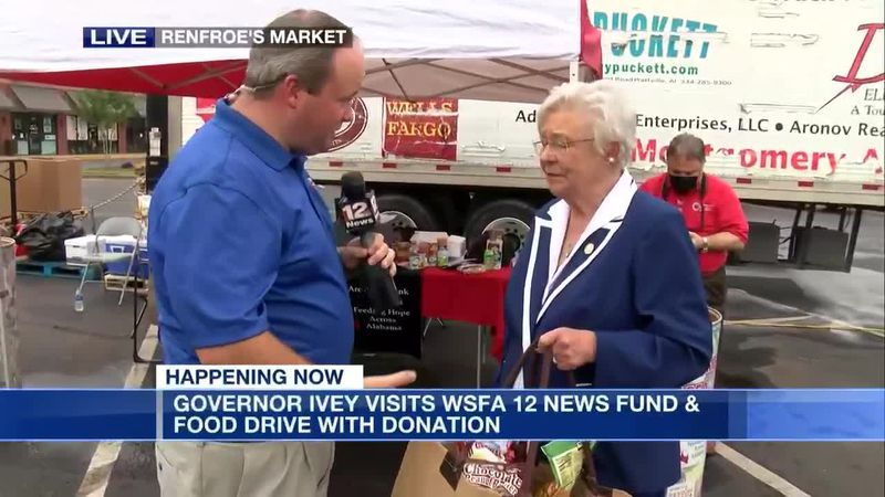 Gov. Kay Ivey donates to WSFA Summer Fund and Food Drive
