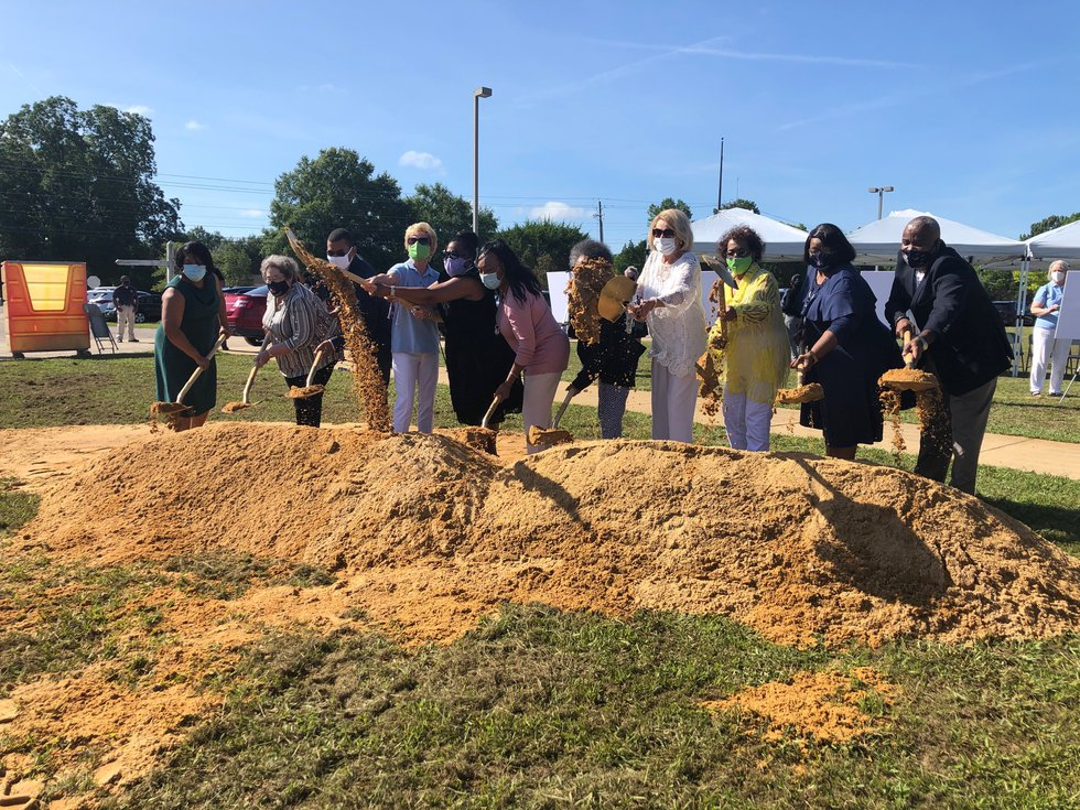 A groundbreaking ceremony was held Thursday for the new Booker T. Washington Magnet High School...