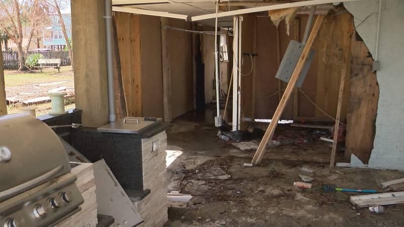 Hurricane Sally left very little untouched in Sean Lamont's waterfront home in Orange Beach.