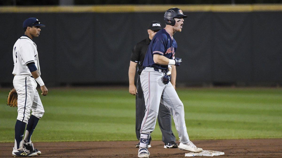 Steven Williams (41)Auburn baseball vs Georgia Tech during the NCAA baseball regional on...