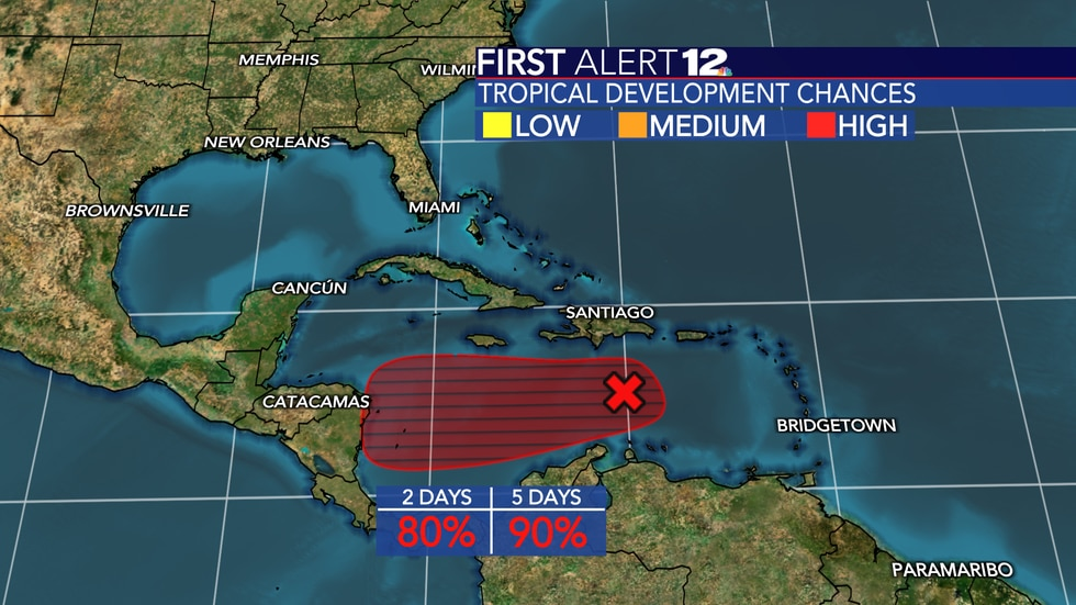High chance of our next tropical depression or tropical storm developing