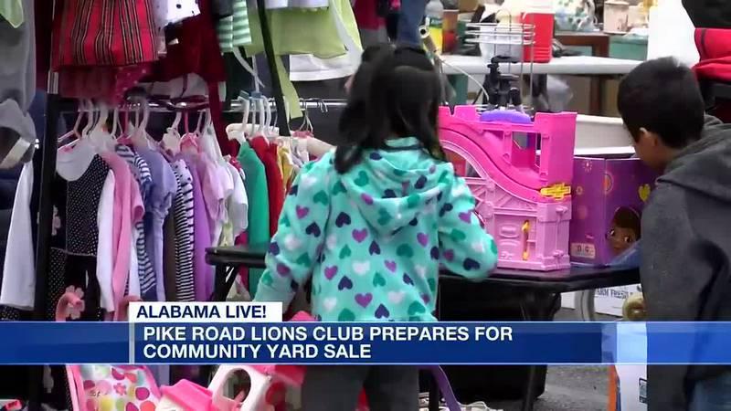 Pike Road Lions Club prepares for community yard sale