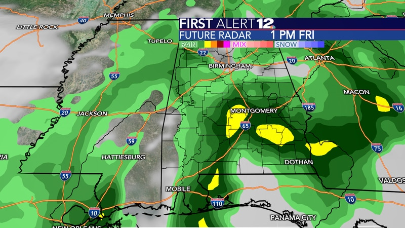 More rain and storms are expected Friday, but exact timing is difficult to pinpoint.