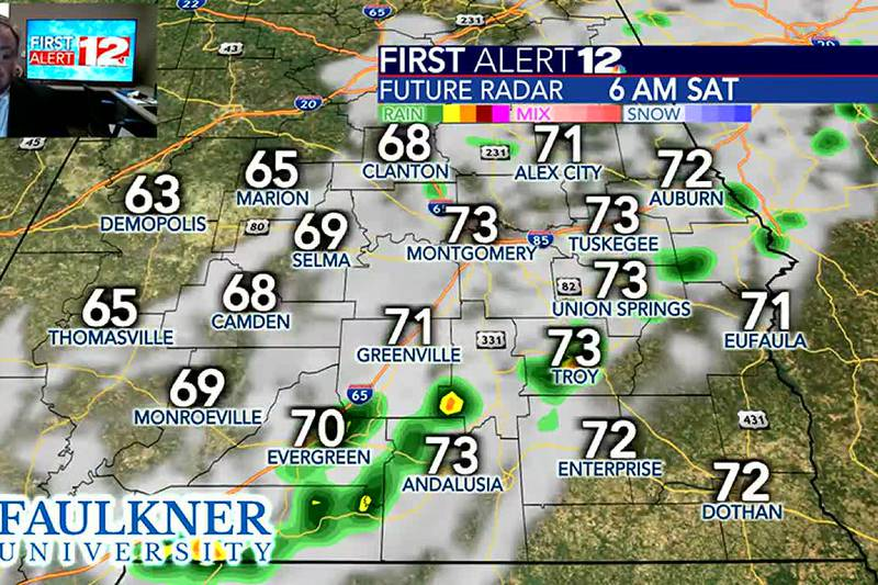 Cold front brings spotty rain, windy weather and cooler conditions to the state!