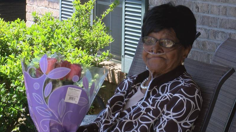 Mrs. Sankey was all smiles on Mother's Day, surrounded by her family and friends.