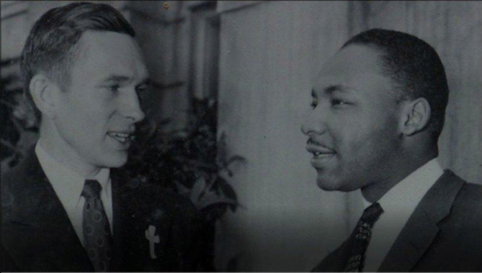 The Rev. Robert Graetz speaks with the Rev. Martin Luther King, Jr. Graetz, the only white...