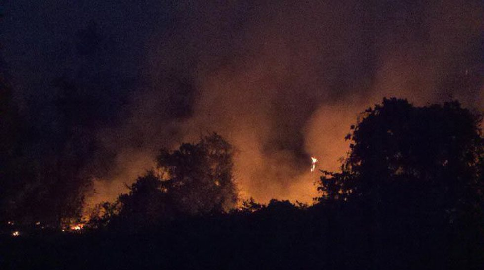 A wildfire near the Chilton/Autauga Co. line is now being deemed arson.