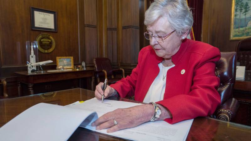 Alabama Gov. Kay Ivey says the state will work to fight back against the new federal mandates...