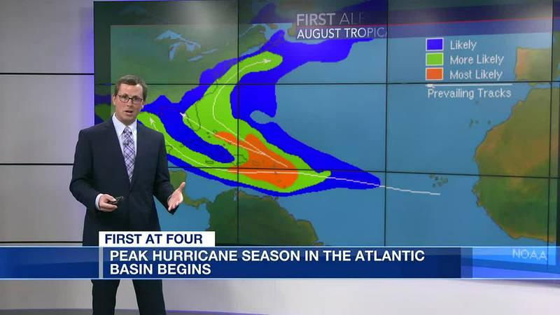 Peak hurricane season in Atlantic Basin begins