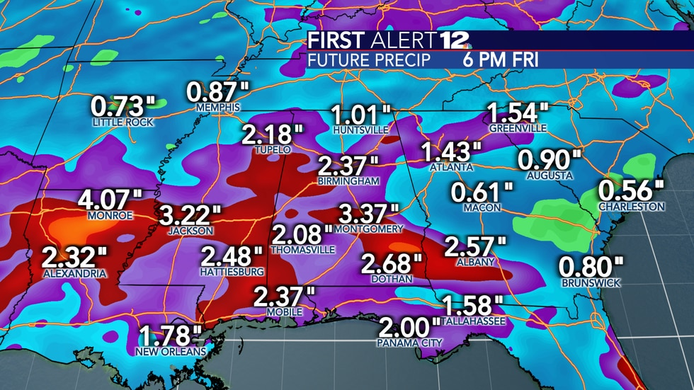 A healthy amount of rain is on the way next week, but flooding shouldn't occur as it falls over...