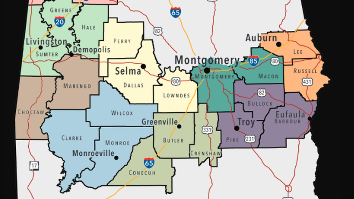Alabama's Black Belt is made up of 23 counties stretching from the Mississippi to Georgia lines.