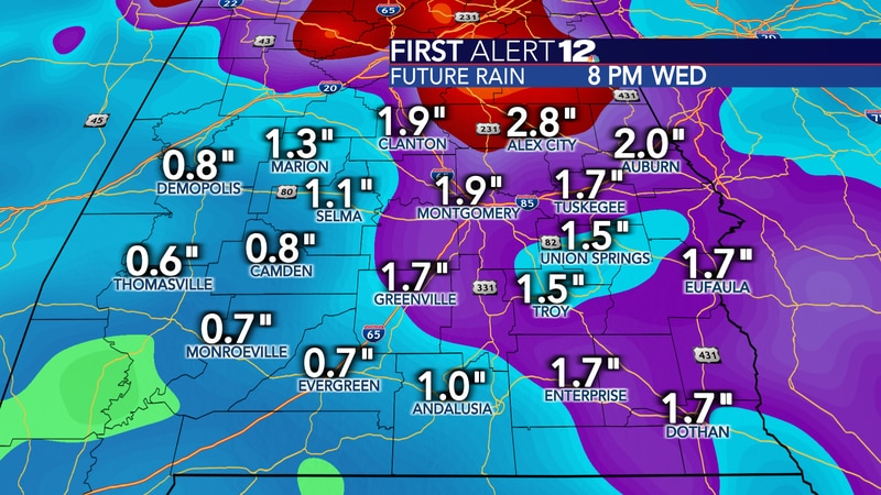 """An additional 1-3"""" of rain is likely through Wednesday afternoon."""
