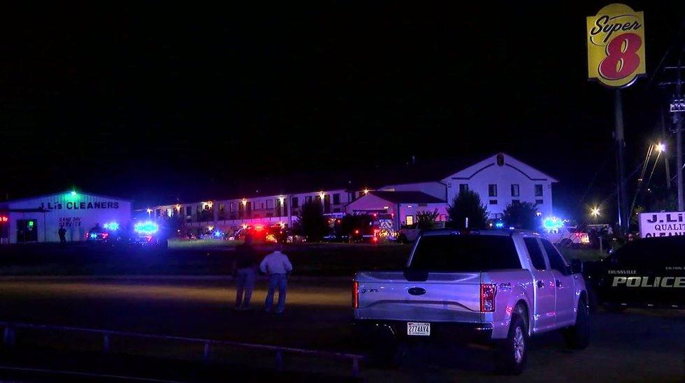 Scene where Moody Police officer was shot