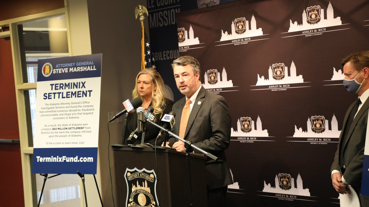 Alabama Attorney General Steve Marshall announced that consumer claims processing is underway...