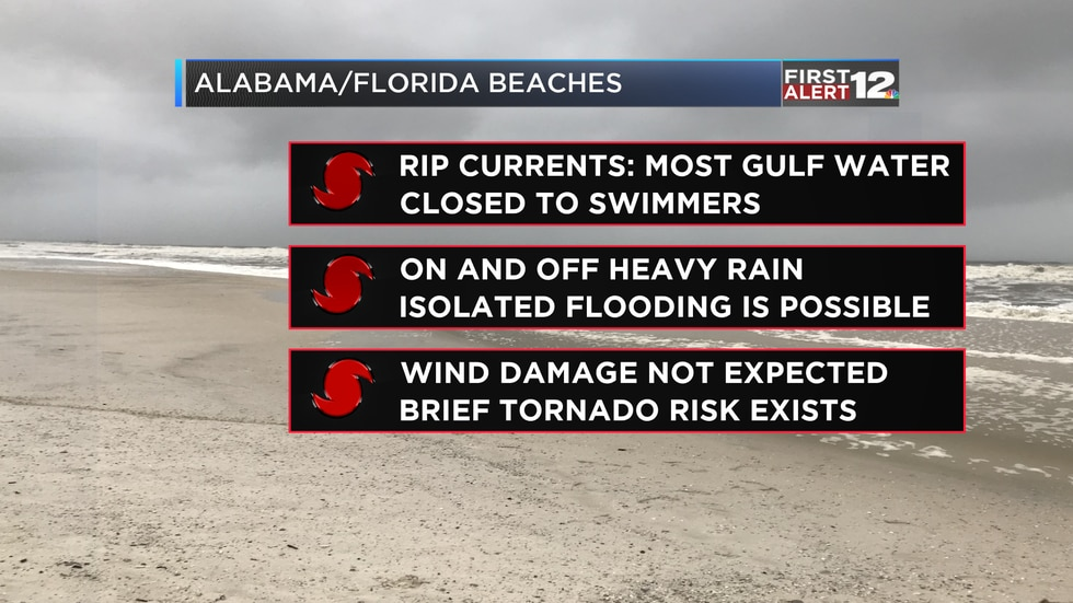 Beach impacts from Tropical Storm Barry