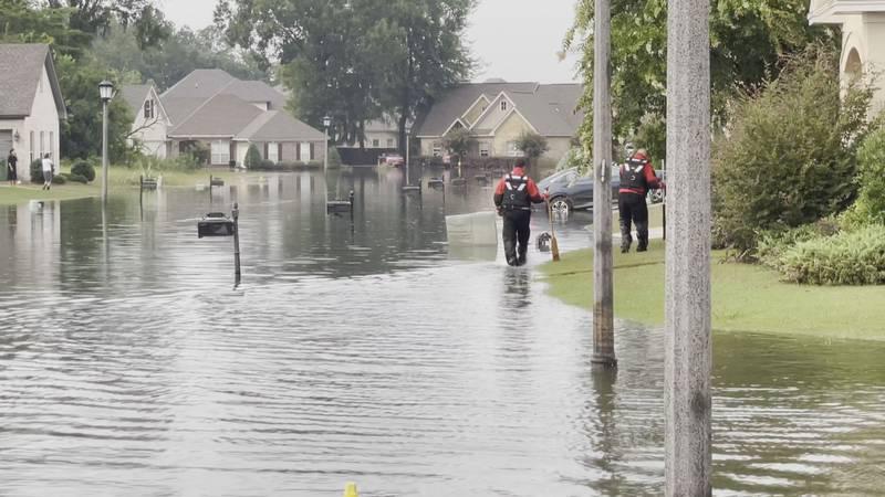 Montgomery's Breckenridge neighborhood was among those hit by flooding on Aug. 2, 2021.