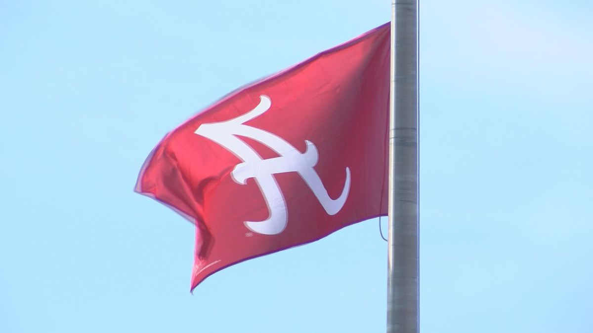 Brusly Elementary School has hung a Bama flag to help raise money. Every donation from an LSU...