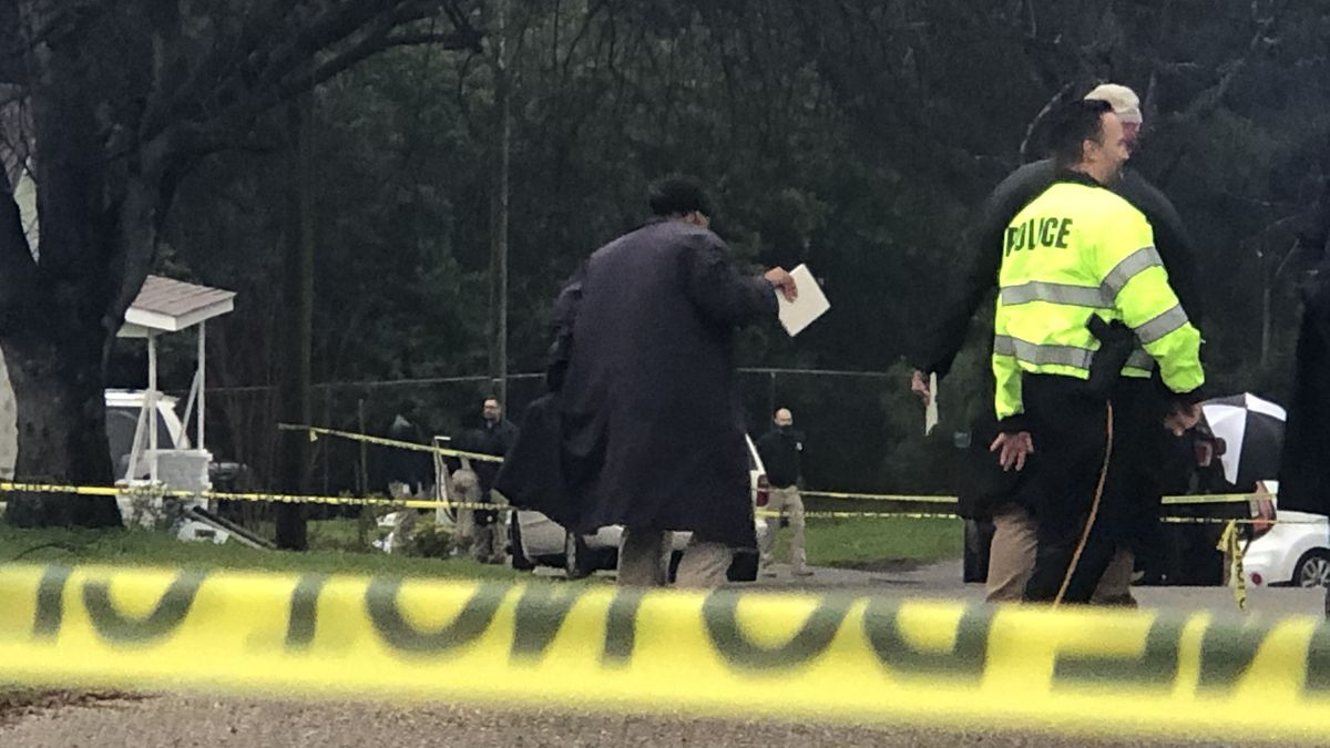 First responders on the scene of a shooting near Stella Street in Montgomery Thursday afternoon.