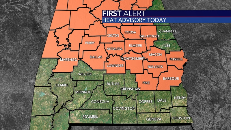 A Heat Advisory is in effect for a good portion of the area today for heat index values as high...
