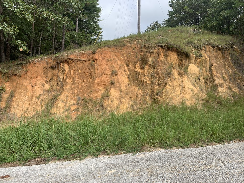 Variations of rock formations and soil can be seen at different points of the Wetumpka Impact...