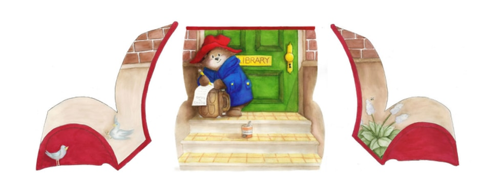 """The bench design featuring """"A Bear Called Paddington"""" that will be on display in Montgomery..."""
