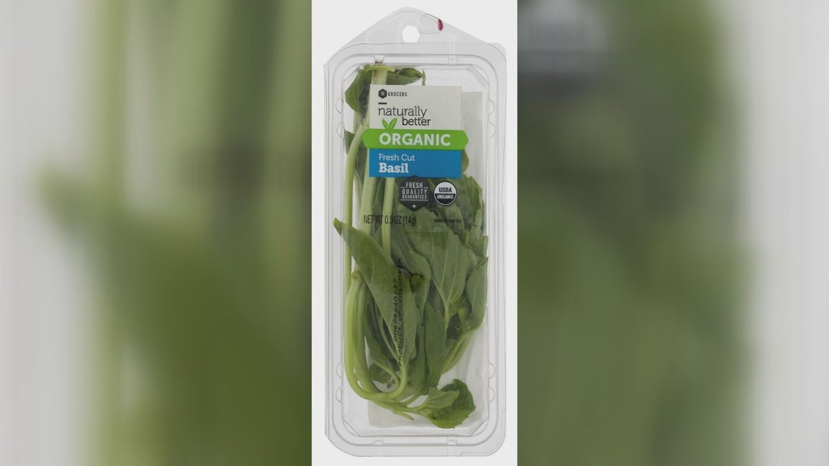 Southeastern Grocers is recalling its 0.5-ounce Naturally Better organic fresh cut basil due to...