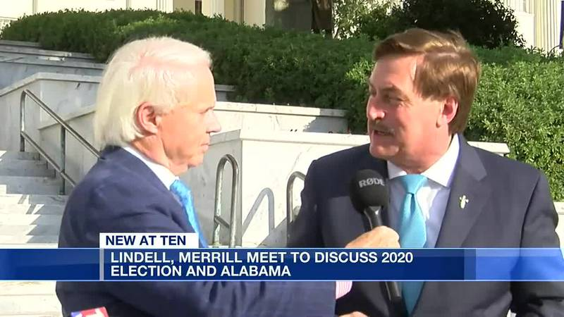 Mike Lindell meets with John Merrill about election